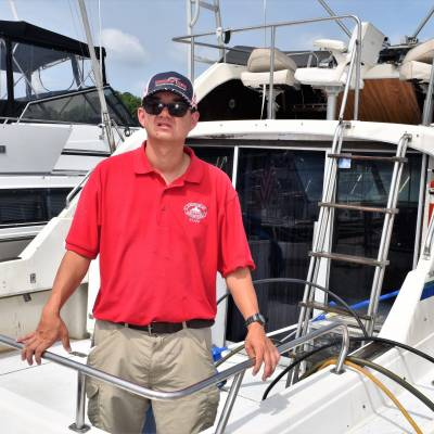 Marinucci joins CBMM's Charity Boat Donation program