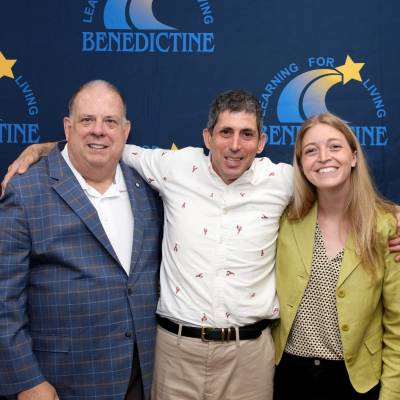 Maryland Governor Larry Hogan visits Bendictine