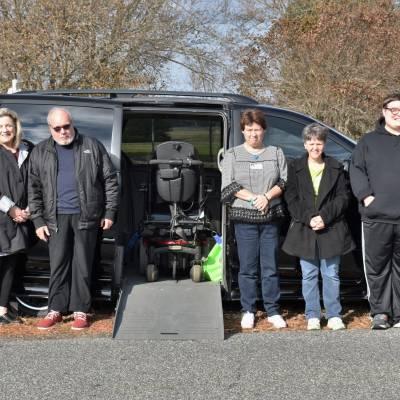 Easton couple donates accessible van and motorized wheelchair to Benedictine