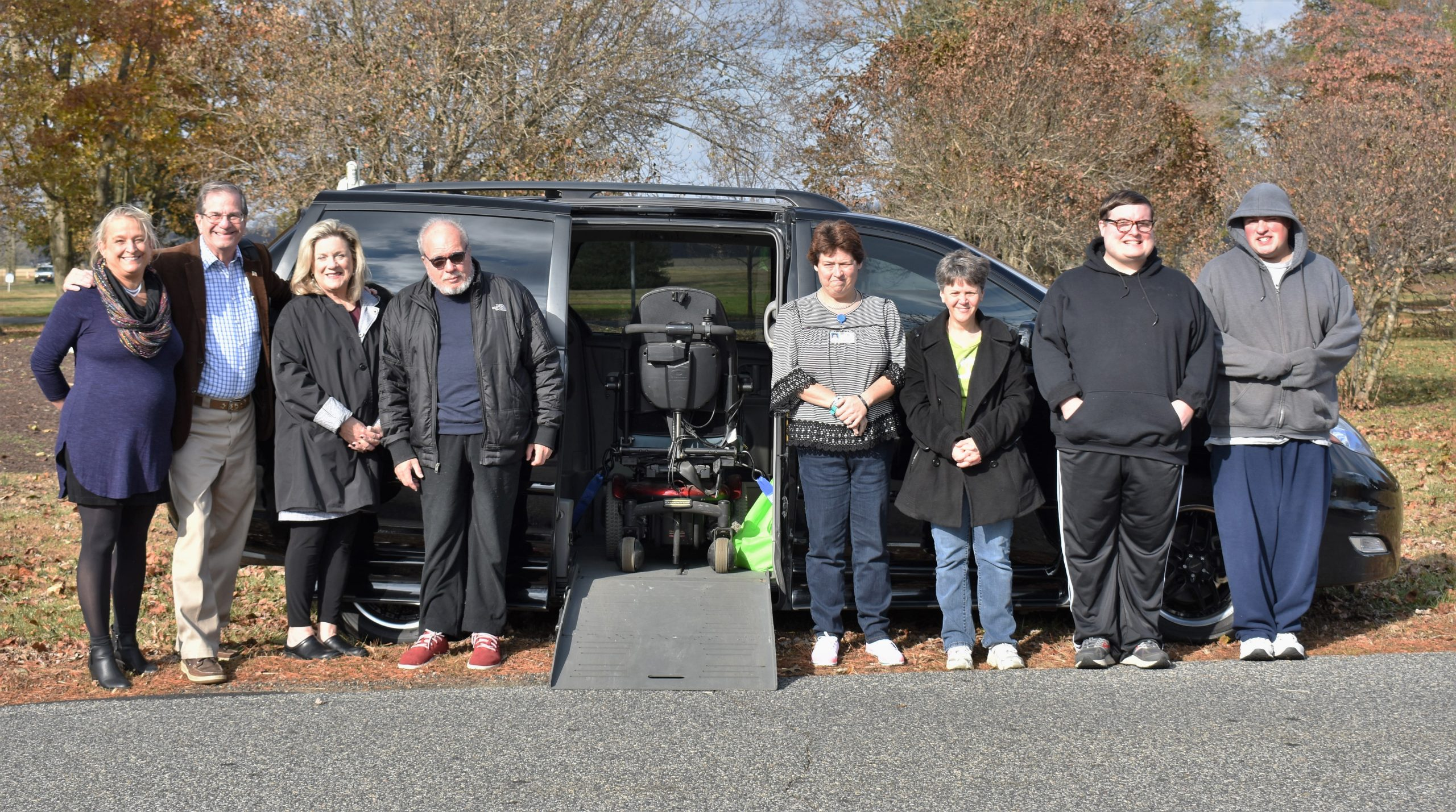 Easton couple donates accessible van and motorized wheelchair to Benedictine