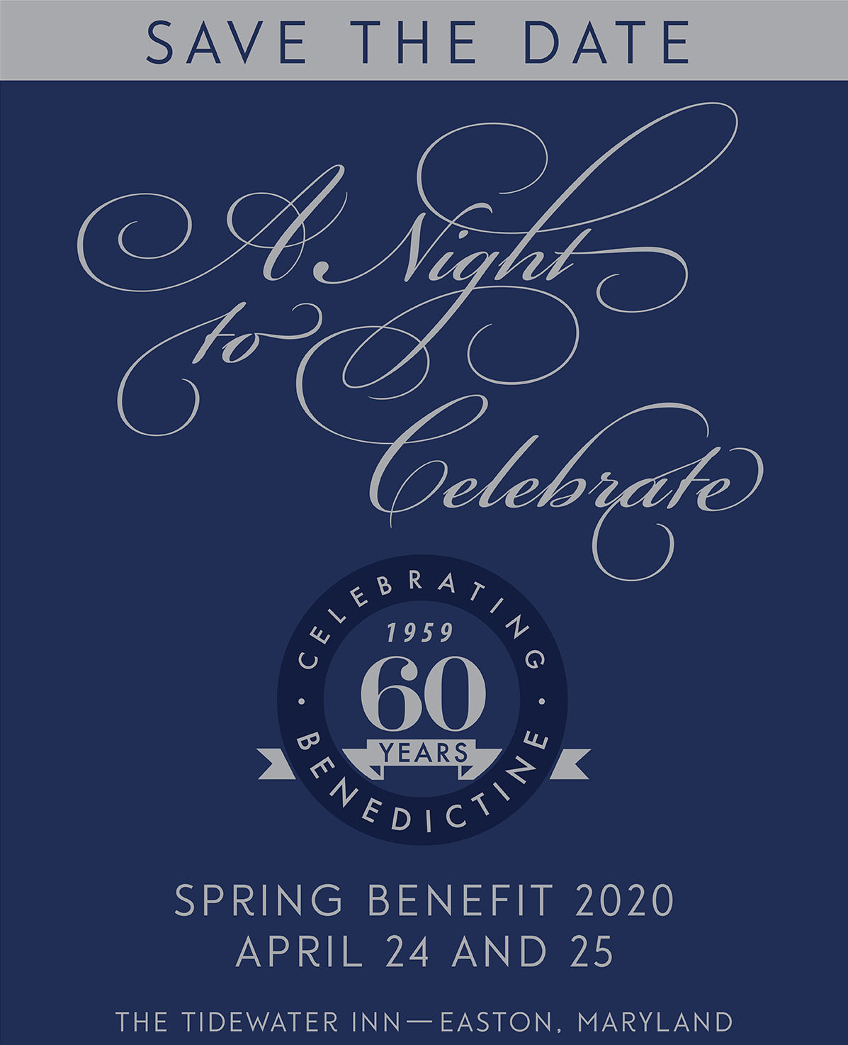 Benedictine's 60th Anniversary Spring Benefit Gala set for April 25
