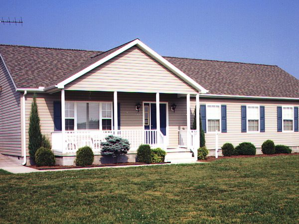 Front yard of Benedictine's first group home for adults.